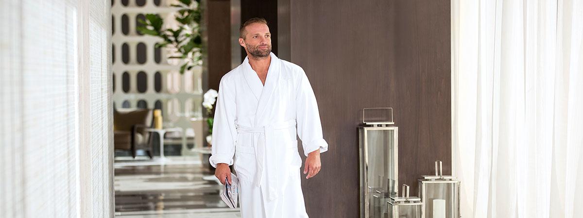 Man at the spa