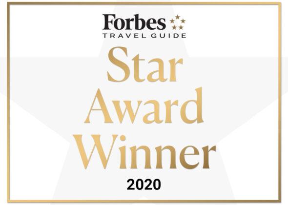 Forbes Travel Guide Star Award Winner 2020